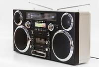 Portable Retro Ghetto Blaster With Bluetooth DAB, Cassette, FM, CD And Aux