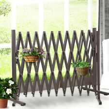 Security Gate Pet Safe Steel Trellis Fence Barrier Door Traffic Indoor Outdoor