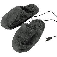 infactory Deluxe-plüsch-pantoffeln mit Usb-wärmesohle Gr. 40-46