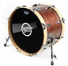 "Compact Travel Bass Drum 12"" x 18"" Red Mahogany Finish - by Side Kick Drums"