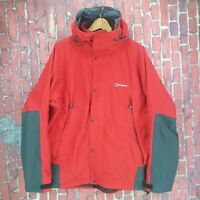 Men's Berghaus Mountain Waterproof Weatherproof Hiking Goretex Red Jacket Large