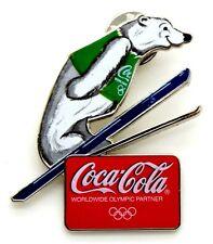 Pin Spilla Olimpiadi Torino 2006 - Coca-Cola Orso Salto