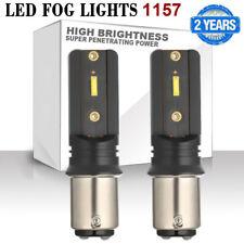 1157 LED CSP Chip Fog Light Bulb 6500k 2400LM Daytime Running DRL Super Bright