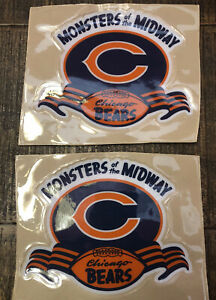 New! Chicago Bears Full Size Football Helmet Decals