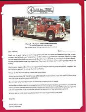 Fire Equipment Brochure - 4 Guys - Pumper Tanker - 2 items (DB275)