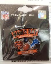 Detroit Lions VS Chicago Bears 11/11/18 Game Day Pin Salute to Service FREE SHIP