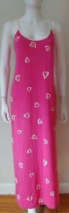 RARE! Vintage 90's Victoria's secret Pink label maxi lounge nightgown L hearts