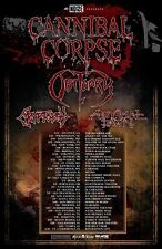 CANNIBAL CORPSE / OBITUARY / CRYPTOPSY 2016 NORTH AMERICAN CONCERT TOUR POSTER