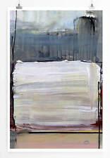 60x90cm Abstraktes Bild mit weißem Rechteck