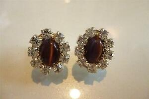 Lovely Vintage Simulated Gemstone Earrings - Mint condition!