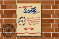 Wall's Ice Cream Metal Sign, Diner,Vintage, Retro, Collectable, 982