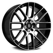 "20"" Lexani Wheels CSS-8 Black Stagger Rims Fit Maxima 350Z G35 G37 CTS Lexus GS"