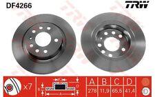 TRW Juego de 2 discos freno Trasero 278mm MERCEDES-BENZ CLASE E OPEL DF4266