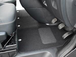 Tailored Fit Black Carpet Floor Mat 1pc Van Mats for Renault Trafic (2014 on)