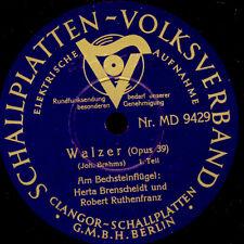 H.BRENSCHEIDT & R. RUTHENFRANZ -PIANO- Brahms: Walzer Op. 39;   Schellack G2231