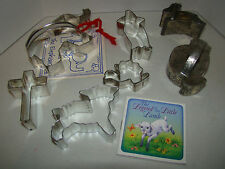 Spring Cookie Cutters Plus An Elephant - Used - Seven--Lamb, Chick, Rabbit, Dove
