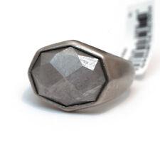Nuevo David Yurman para hombre Facetado meteorito E/W Signet Anillo Meteorito Plata 10