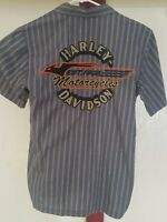 Harley Davidson Mens Short Sleeve Button up Shirt Size: S Embroidered Vented