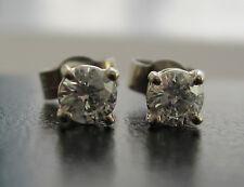 Nuovo 2/5ct 40ct) Diamante 9kt Oro Bianco Orecchini A Perno Spedizione Gratuita