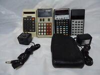 Lot 4 Vintage Corvus,  T.I. Unicom, Calculators, Untested Strictly Parts/Repair