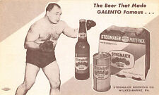 Wilkes-Barre PA Tony Galento Boxer Steigmaier Beer Party Pack Advertising PC
