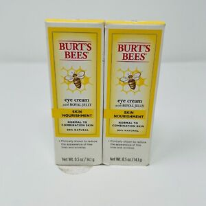 1 or 2 Pack Burt's Bees Eye Cream with Royal Jelly Skin Nourishment 0.5 oz