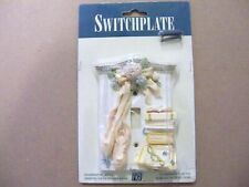 """VINTAGE SINGLE WALL SWITCH PLATE-""""FIGI"""" """"BALLET SLIPPERS""""- HAND PAINTED - IN PKG"""