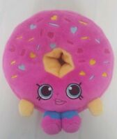 """Shopkins Donut D'Lish Plush Smiley Face Pink Sprinkles 6"""" No Tags !!!"""
