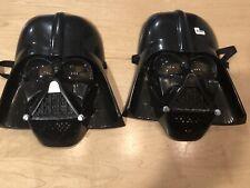 Star Wars Darth Vader Costume Mask Lot of 2 Rubie's 2005 Plastic