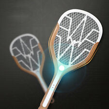 (UKEU) USB Recharge Mosquito Swatter Bug Insect Zapper HandHeld  Racquet LED