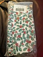 Longaberger Traditional Holly Fabric Liner For Candle Basket Holiday Christmas