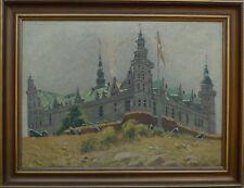 Impressionista-Castello Kronborg-Helsingør-Danimarca-Seeland - Øresund-olio/LW