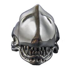 Alien v Predator Head Ring .925 sterling silver Biker Metal Gothic feeanddave