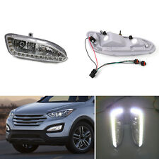 LED Lamp Beads White Daytime Running Light DRL For Hyundai Santa Fe/IX45 13-15