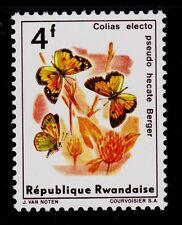 RWANDA   SCOTT#  122   MNH  MOTH/BUTTERFLY TOPICAL