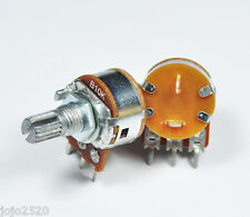5 pcs 10KB / B10K Linear Pot Potentiometer 15mm ON OFF Switch / SW