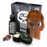 PUNISHER BEARD CARE KIT W/ WOODEN BEARD/MUSTACHE COMB, OIL, BALM & CONDITIONER