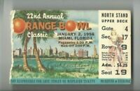 1956 Orange Bowl college football ticket Maryland v Oklahoma Sooners Gate 4 17 9