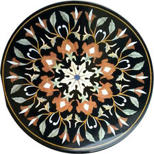 "24""x24"" New Design Beautiful Marble Inlay Table Top Home Decor"