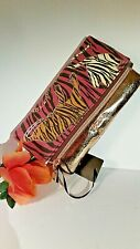 bebe Tiger/ Bronze Clutch Bag