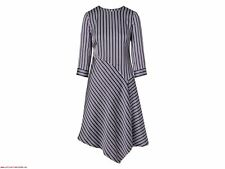 Banana Republic Women's  Navy Blue PJ Stripe Asymmetrical Dress Size 2