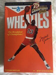 Michael Jordan 1988 75 Years Of Champions Wheaties Box