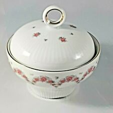 Vintage Jlmenau Sugar Bowl with Lid  Hennenberg Fine German Porcelain