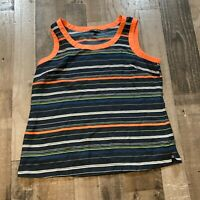 Banana Republic Womens Size XL Striped Round Neck Sleeveless Multicolor Tank Top