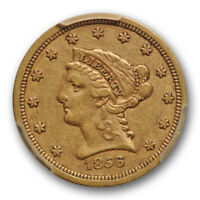 1856 S $2.50 Liberty Head Quarter Eagle Gold PCGS VF 35 Very Fine to Extra Fine