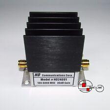 1×USED HD HD24031 100-5000MHz 30dB 20dBm SMA RF Low Noise Amplifier