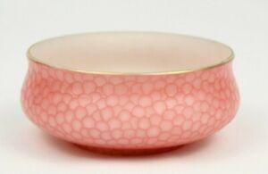 Antique THOMAS WEBB Art Glass FISH SCALE Pattern Low Bowl