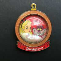 DLR - Holiday Snowglobe - Alice and The Cheshire Cat LE 1000 Disney Pin 58124