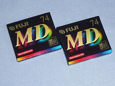 "2x Fuji MD S 74 - MiniDisc - Made in Japan - Minidisk  - ""NEU""  in OVP - Sealed"