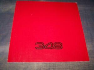 TOPRARITÄT Herrlicher Prospekt Ferrari 348 von 1990 !!!